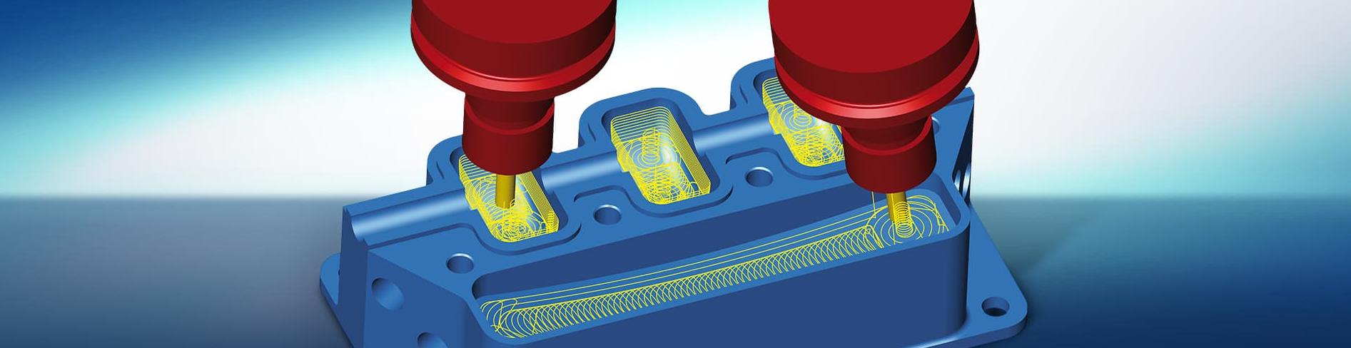 hyperMILL ścieżki zgrubne 3D oraz 5X