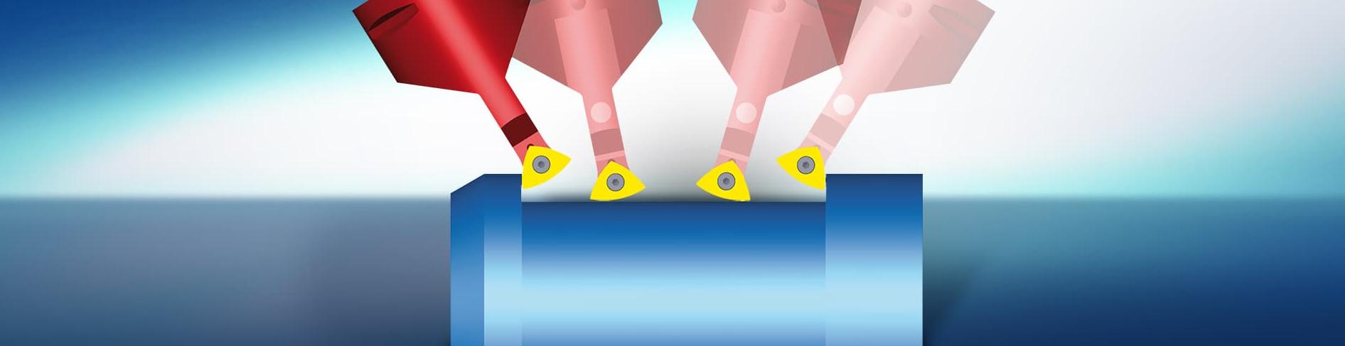 hyperMILL 3X płynne toczenie rollfeed