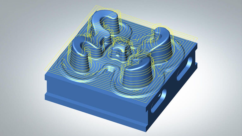 Obróbka - hyperMILL w 3D - ścieżki