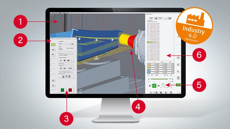 Virtual Machining Center monitor